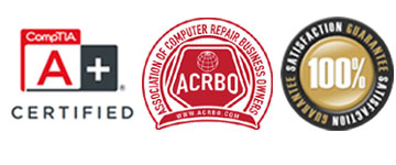 A+ Certified | Association of Computer Repair Business Owners Member | 100% Satisfaction Guarantee